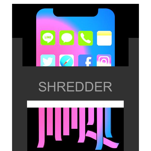 iphoneをシュレッダー